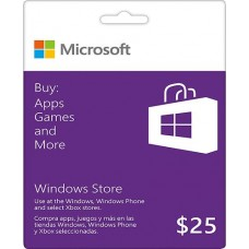 $25 Windows Store Gift Card [Online Delivery]
